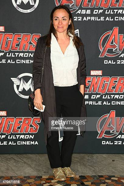 Camila Raznovich attends the 'The Avengers' premiere at The Space Moderno on April 20 2015 in Rome Italy