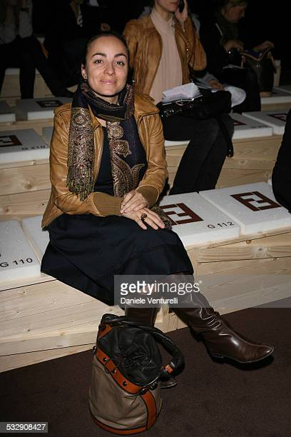 Camila Raznovich during Milan Fashion Week Fall/Winter 2007 Fendi Front Row and Backstage at Carrousel du Louvre in Milan Italy