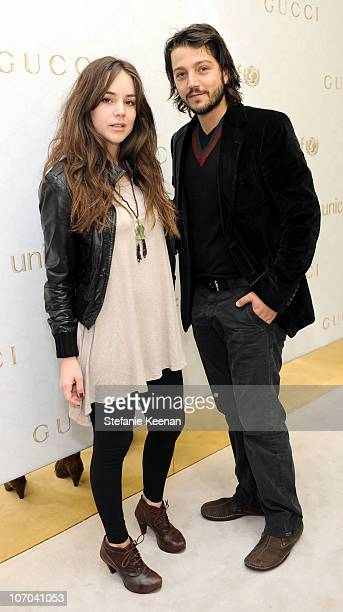 Camila Sodi and Diego Luna attend the Gucci Children's Collection event on November 20 2010 in Beverly Hills California