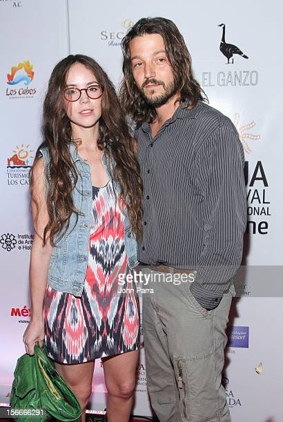 Camila Sodi and Diego Luna attends the Closing Night Gala during the Baja International Film Festival at Los Cabos Convention Center on November 17...