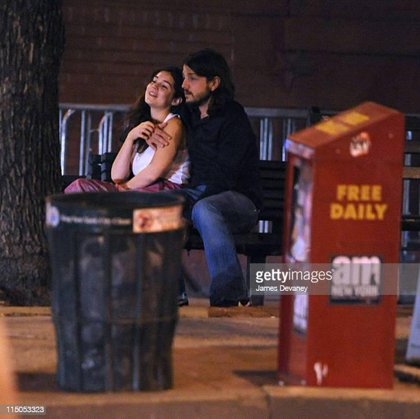 *EXCLUSIVE* Camila Sodi and Diego Luna seen outside Da Silvano on April 28 2009 in New York City