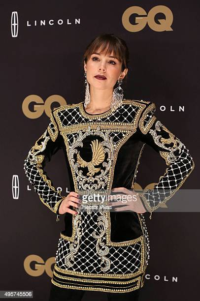 Camila Sodi poses during the red carpet of GQ Mexico Men of The Year 2015 Awards at Live Aqua on November 04 2015 in Mexico City Mexico