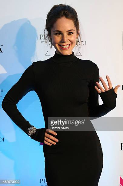 Camila Sodi poses during the red carpet of Perugia Collection by Camila Sodi at Hotel W on August 04 2015 in Mexico City Mexico