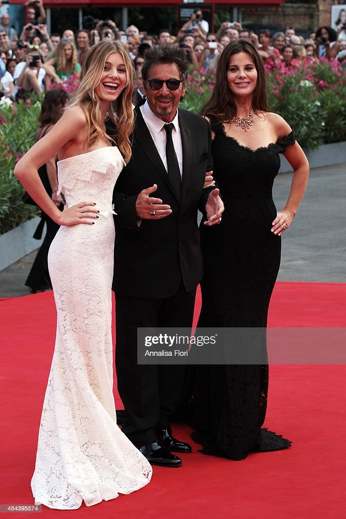 Camila Sola actor Al Pacino and Lucila Sola attend the 'Manglehorn' premiere during the 71st Venice Film Festival at the Palazzo del Cinema on August...