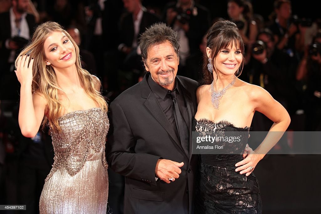 <a gi-track='captionPersonalityLinkClicked' href=/galleries/search?phrase=Camila+Sola&family=editorial&specificpeople=7957717 ng-click='$event.stopPropagation()'>Camila Sola</a>, <a gi-track='captionPersonalityLinkClicked' href=/galleries/search?phrase=Al+Pacino&family=editorial&specificpeople=202658 ng-click='$event.stopPropagation()'>Al Pacino</a> and <a gi-track='captionPersonalityLinkClicked' href=/galleries/search?phrase=Lucila+Sola&family=editorial&specificpeople=6898117 ng-click='$event.stopPropagation()'>Lucila Sola</a> attend 'The Humbling' premiere during the 71st Venice Film Festival on August 30, 2014 in Venice, Italy.