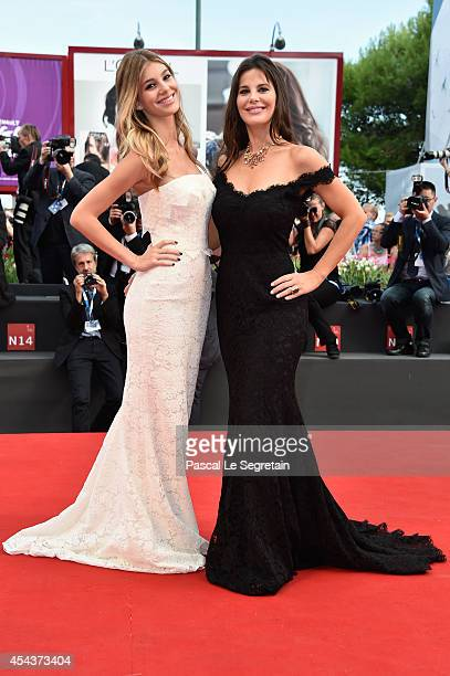 Camila Sola and Lucila Sola attend the 'Manglehorn' premiere during 71st Venice Film Festival on August 30 2014 in Venice Italy