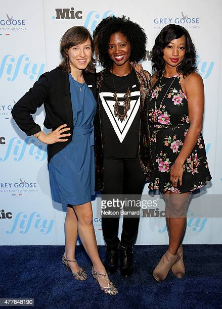 Camila Thorndike Yamilee Toussaint and Monique Coleman attend GREY GOOSE Vodka Hosts The Inaugural Mic50 Awards at Marquee on June 18 2015 in New...