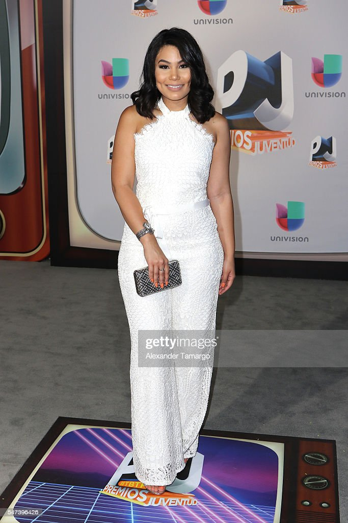 Camilaa Inc attends the Univision's 13th Edition Of Premios Juventud Youth Awards at Bank United Center on July 14 2016 in Miami Florida