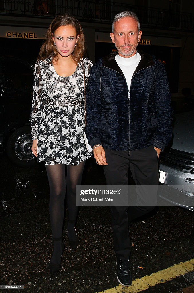 Camilla Al Fayed and Patrick Cox attending the Louis Vuitton Dinner to celebrate the Men's Autumn Winter 2013 Collection on September 11, 2013 in London, England.