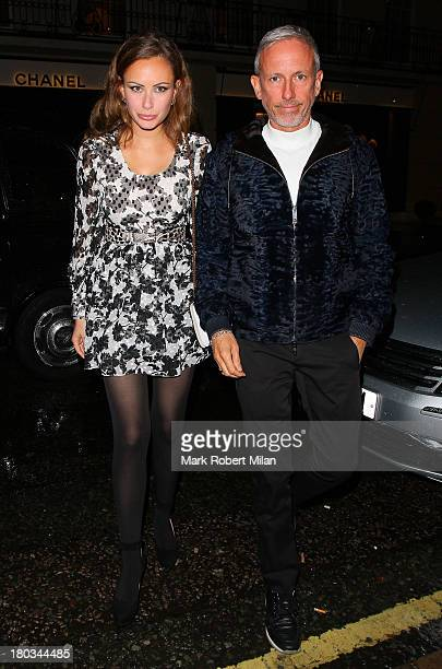 Camilla Al Fayed and Patrick Cox attending the Louis Vuitton Dinner to celebrate the Men's Autumn Winter 2013 Collection on September 11 2013 in...