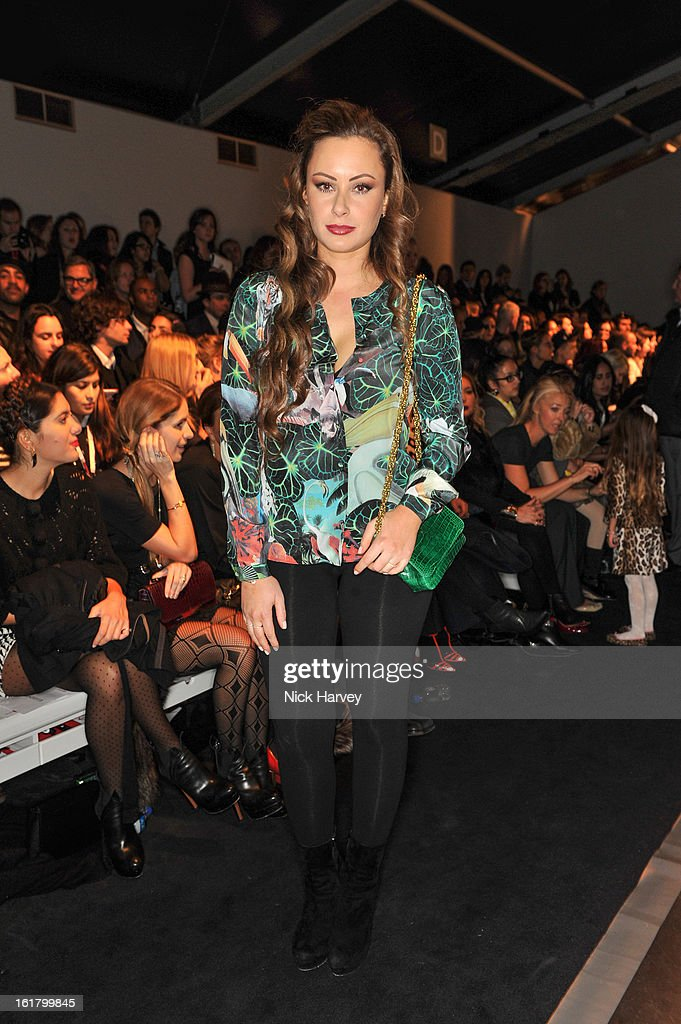 Camilla Al Fayed attends the Issa London show during London Fashion Week Fall/Winter 2013/14 at Somerset House on February 16, 2013 in London, England.