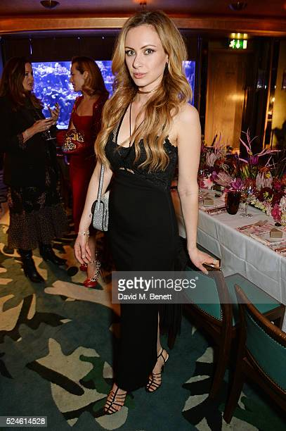 Camilla Al Fayed attends the launch of the new Venyx Oseanyx collection hosted by Eugenie Niarchos and Lucy Yeomans at Sexy Fish on April 26 2016 in...