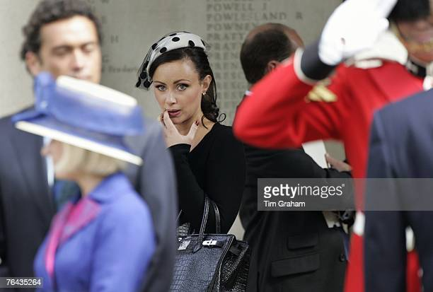 Camilla al Fayed leaves the 10th Anniversary Memorial Service For Diana Princess of Wales at Guards Chapel at Wellington Barracks on August 31 2007...