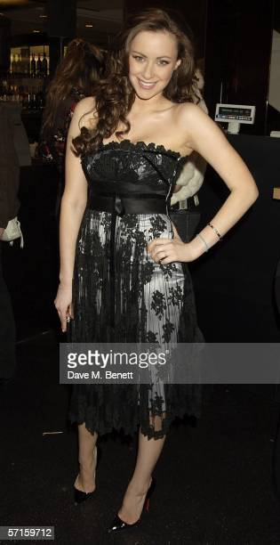 Camilla AlFayed attends the VIP launch party for British couture label Marchesa's Spring/Summer 2006 collection founded by Georgina Chapman and Keren...
