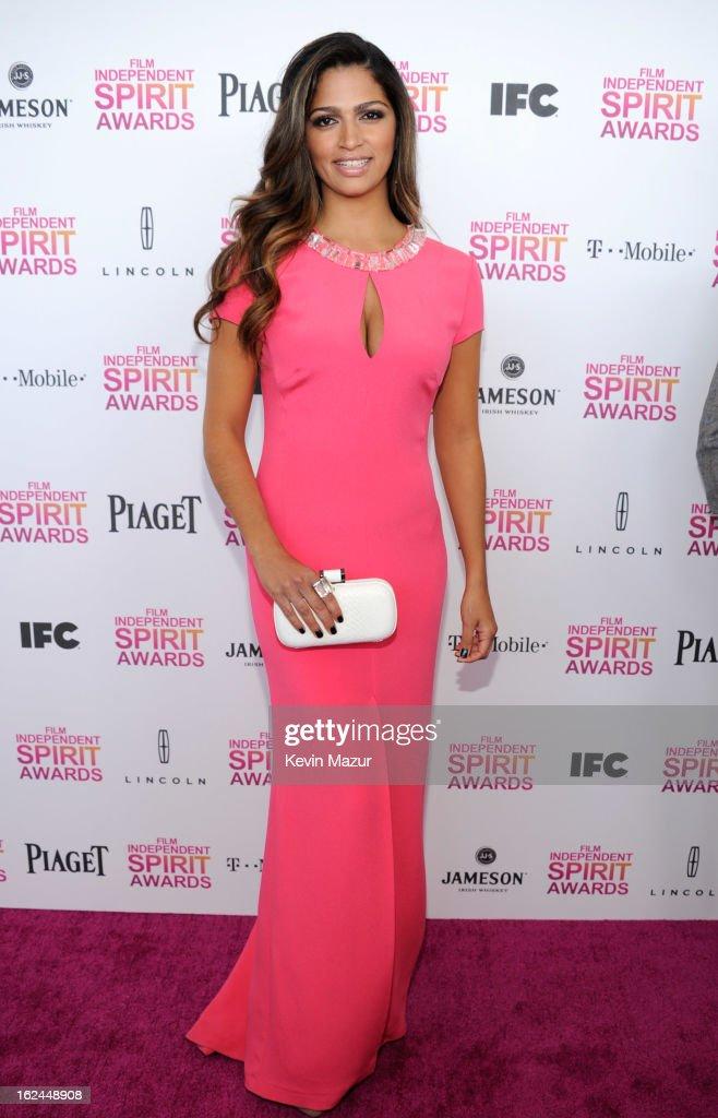 Camilla Alves attends the 2013 Film Independent Spirit Awards at Santa Monica Beach on February 23, 2013 in Santa Monica, California.