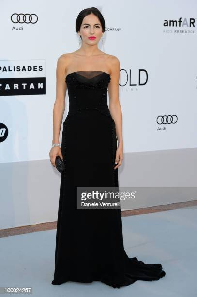 Camilla Belle arrives at amfAR's Cinema Against AIDS 2010 benefit gala at the Hotel du Cap on May 20 2010 in Antibes France
