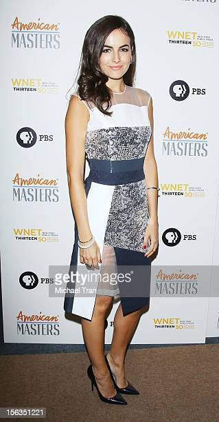 Camilla Belle arrives at the Los Angeles premiere of 'Inventing David Geffen' held at Writer's Guild Theater on November 13 2012 in Los Angeles...