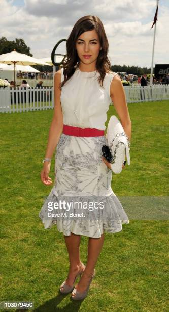 Camilla Belle attends the Cartier International Polo Day at Guards Polo Club on July 25 2010 in Egham England