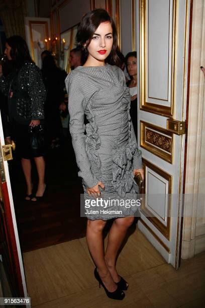 Camilla Belle attends the Louis Vuitton party on October 7 2009 in Paris France