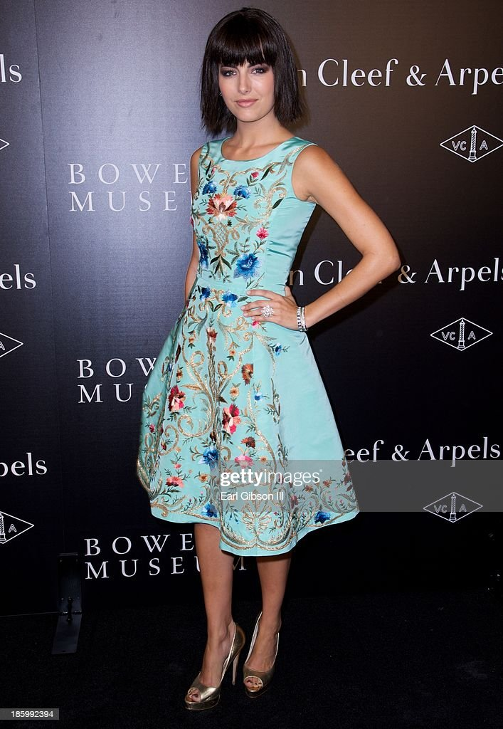 <a gi-track='captionPersonalityLinkClicked' href=/galleries/search?phrase=Camilla+Belle&family=editorial&specificpeople=210585 ng-click='$event.stopPropagation()'>Camilla Belle</a> attends Van Cleef & Arpels New Exhibit Opening Night Reception at The Bowers Museum on October 26, 2013 in Santa Ana, California.