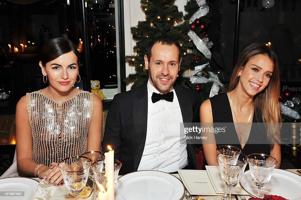 <a gi-track='captionPersonalityLinkClicked' href=/galleries/search?phrase=Camilla+Belle&family=editorial&specificpeople=210585 ng-click='$event.stopPropagation()'>Camilla Belle</a>, Creative Director of Salvatore Ferragamo, Massimiliano Giornetti and <a gi-track='captionPersonalityLinkClicked' href=/galleries/search?phrase=Jessica+Alba&family=editorial&specificpeople=201811 ng-click='$event.stopPropagation()'>Jessica Alba</a> attend a dinner at Burlington Arcade after the flagship store launch of Salvatore Ferragamo's Old Bond Street Boutique at 24 Old Bond Street on December 5, 2012 in London, England.