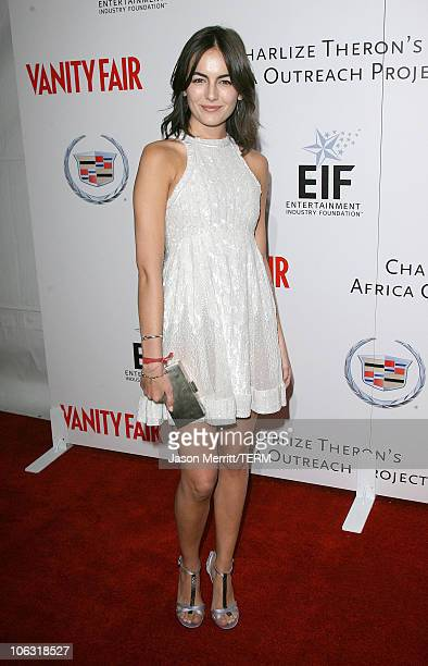 Camilla Belle during Vanity Fair Amped for Africa Red Carpet at Republic in Hollywood California United States