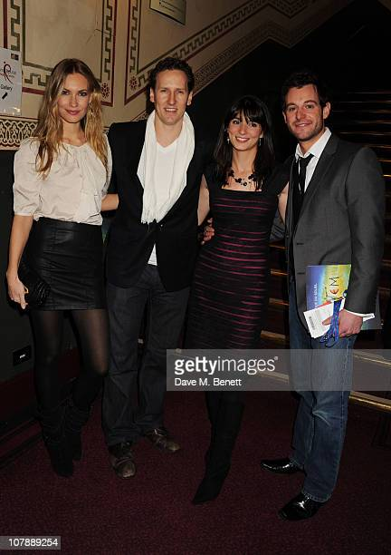 Camilla Dallerup and Brendan Cole with Matt Baker attend the press night of Cirque du Soleil's new show 'Totem' at The Royal Albert Hall on January 5...