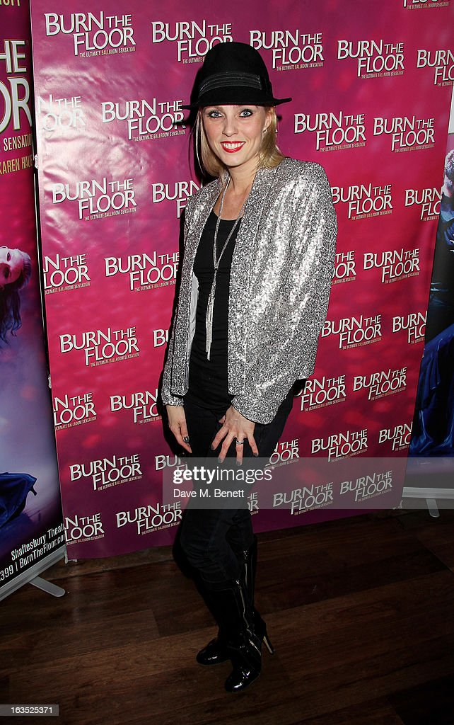 Camilla Dallerup attends an after party celebrating the press night performance of 'Burn The Floor' at the Trafalgar Hotel on March 11, 2013 in London, England.