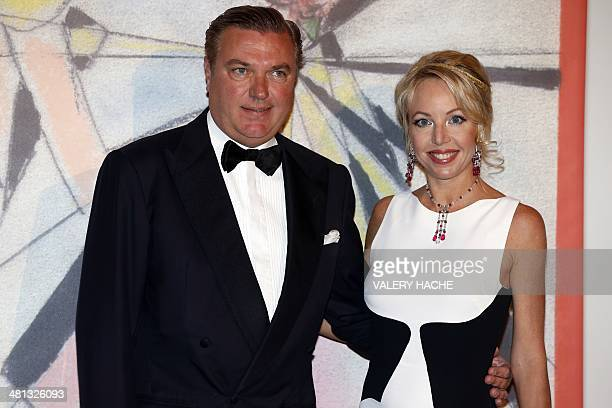 Camilla de BourbonDeuxSiciles and Charles arrive for the annual Rose Ball at the MonteCarlo Sporting Club in Monaco on March 29 2014 The Rose Ball is...