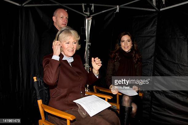 Camilla Duchess of Cornwall and Crown Princess Mary of Denmark during a tour of the current set of TV Drama The Killing in Lynge Denmark Camilla...