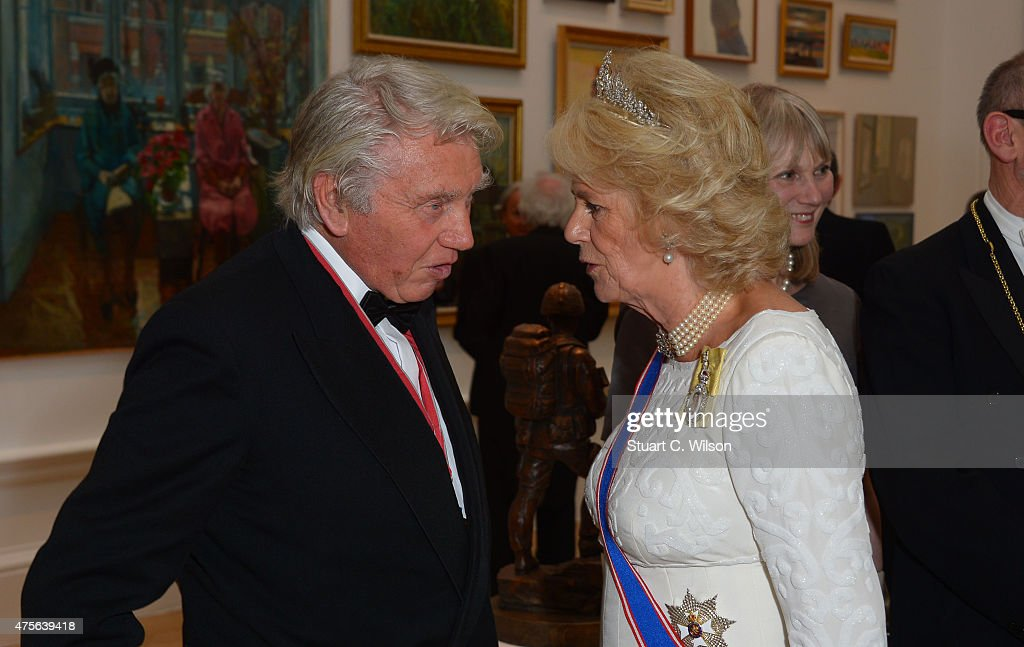 Camilla, Duchess Of Cornwall and Don McCullin attend the Royal Academy Annual Dinner to celebrate the Summer Exhibition, opening to the public on 8 June, at Royal Academy of Arts on June 2, 2015 in London, England.