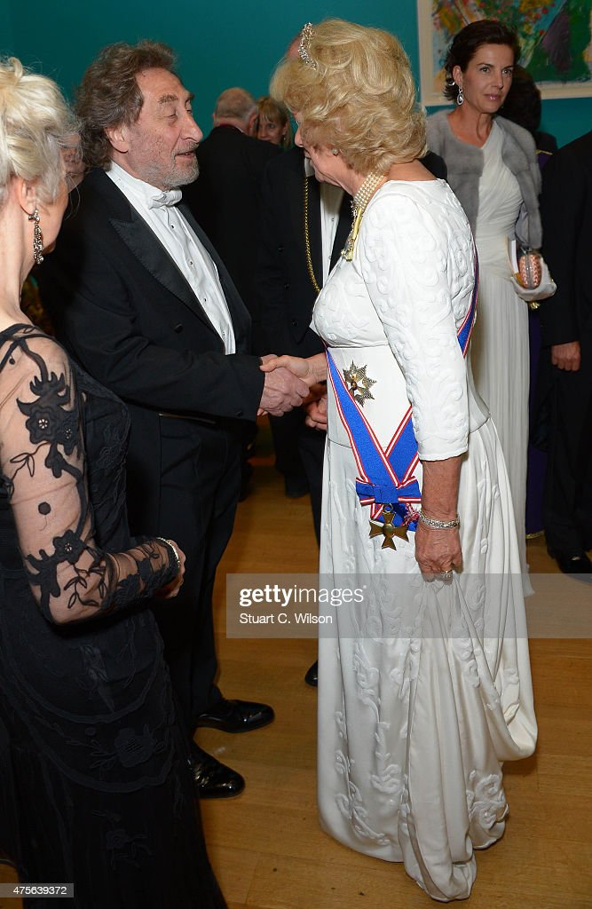 Camilla, Duchess Of Cornwall and Howard Jacobson attend the Royal Academy Annual Dinner to celebrate the Summer Exhibition, opening to the public on 8 June, at Royal Academy of Arts on June 2, 2015 in London, England.
