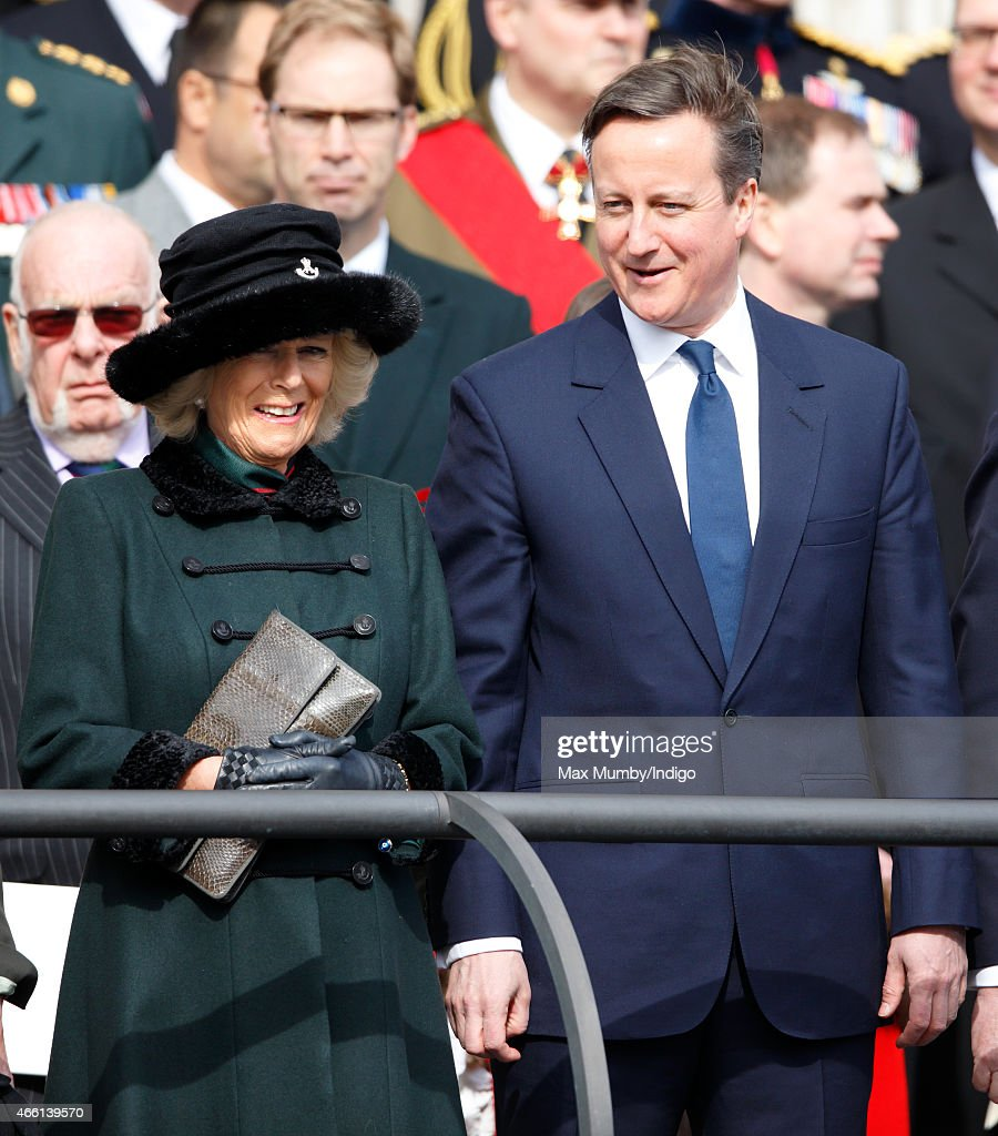 Camilla, Duchess of Cornwall and Prime Minister David Cameron attend a Service of Commemoration to mark the end of combat operations in Afghanistan at St Paul's Cathedral on March 13, 2015 in London, England.