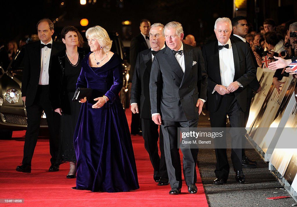 <a gi-track='captionPersonalityLinkClicked' href=/galleries/search?phrase=Camilla+-+Duchess+of+Cornwall&family=editorial&specificpeople=158157 ng-click='$event.stopPropagation()'>Camilla</a>, Duchess of Cornwall (L) and <a gi-track='captionPersonalityLinkClicked' href=/galleries/search?phrase=Prince+Charles&family=editorial&specificpeople=160180 ng-click='$event.stopPropagation()'>Prince Charles</a>, Prince of Wales, attend the Royal World Premiere of 'Skyfall' at the Royal Albert Hall on October 23, 2012 in London, England.