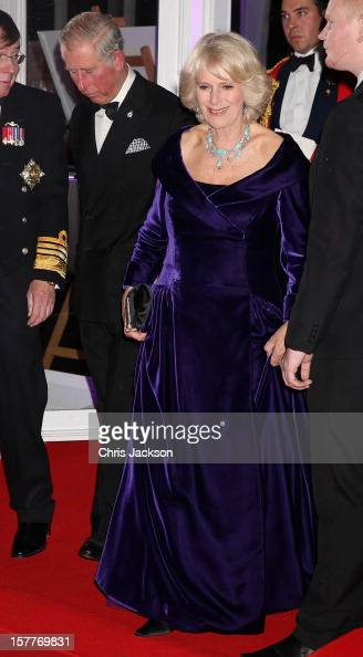 Camilla Duchess of Cornwall and Prince Charles Prince of Wales attend the Sun Military Awards at the Imperial War Museum on December 6 2012 in London...