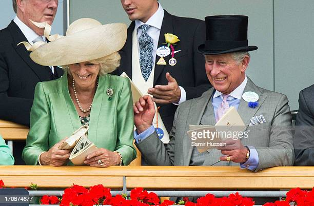 Camilla Duchess of Cornwall and Prince Charles Prince of Wales attend day 2 of Royal Ascot at Ascot Racecourse on June 19 2013 in Ascot England
