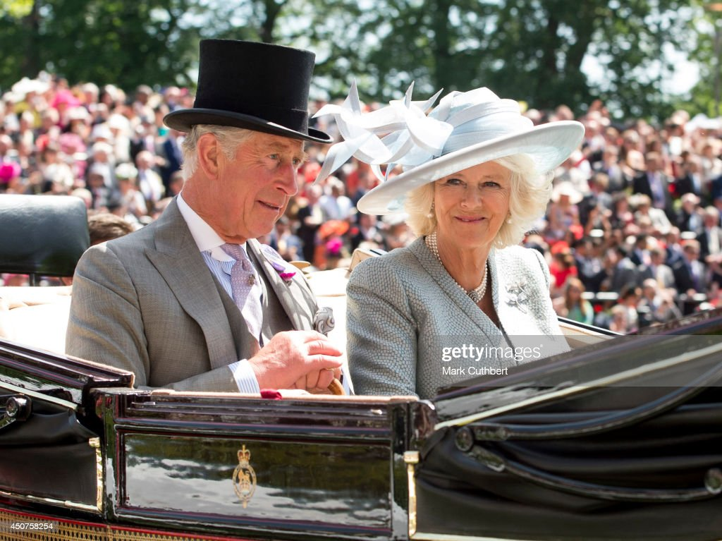 <a gi-track='captionPersonalityLinkClicked' href=/galleries/search?phrase=Camilla+-+Duchess+of+Cornwall&family=editorial&specificpeople=158157 ng-click='$event.stopPropagation()'>Camilla</a>, Duchess of Cornwall and <a gi-track='captionPersonalityLinkClicked' href=/galleries/search?phrase=Prince+Charles+-+Prince+of+Wales&family=editorial&specificpeople=160180 ng-click='$event.stopPropagation()'>Prince Charles</a>, Prince of Wales attend Day 1 of Royal Ascot at Ascot Racecourse on June 17, 2014 in Ascot, England.