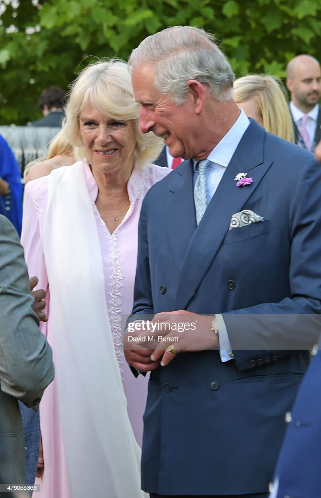 Camilla Duchess of Cornwall and Prince Charles Prince of Wales attend the Quintessentially Foundation and Elephant Family's Royal Rickshaw Auction...