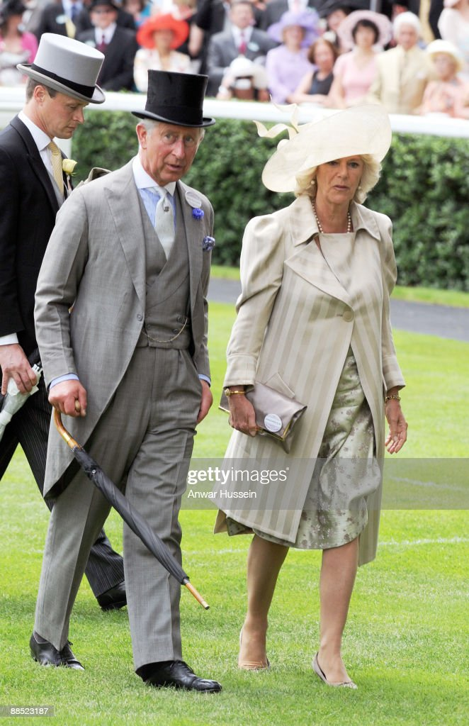 Camilla, Duchess of Cornwall and <a gi-track='captionPersonalityLinkClicked' href=/galleries/search?phrase=Prince+Charles+-+Prince+of+Wales&family=editorial&specificpeople=160180 ng-click='$event.stopPropagation()'>Prince Charles</a>, Prince of Wales attend the first day of Royal Ascot on June 16, 2009 in Ascot, England.