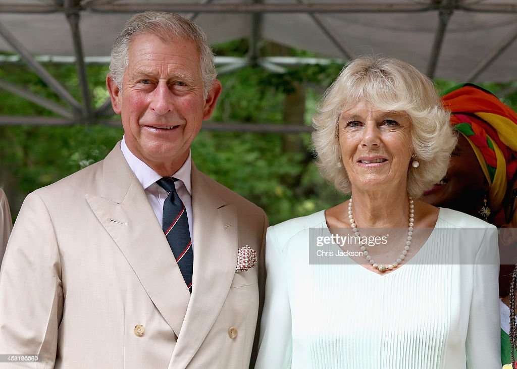 Camilla Duchess of Cornwall and Prince Charles Prince of Wales during a visit to the Museo del Oro Zenu on October 31 2014 in Cartagena Colombia The...