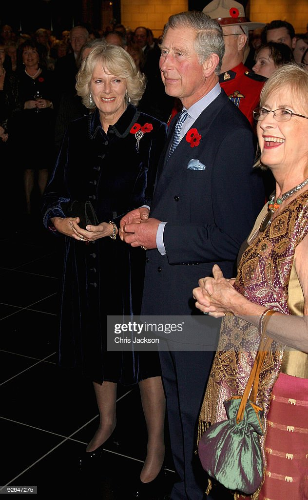 Camilla, Duchess of Cornwall (L) and Prince Charles, Prince of Wales laugh during a reception at 'The Rooms' on November 3, 2009 in Saint John's, Newfoundland, Canada. The Royal couple are visiting Canada from November 2 to November 12 and they will participate in commemorations and celebrations that honour Canada's persons, places and events. This is the Prince of Wales's 15th visit to the country; however, it will be the Duchess of Cornwall's fist official visit to a country where she has strong ancestral links.