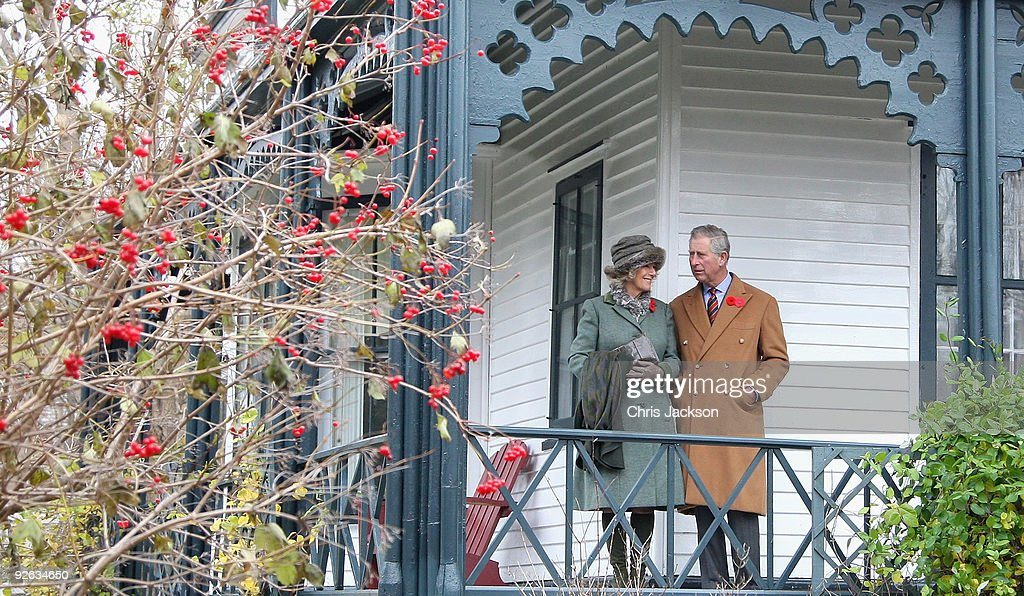 Camilla, Duchess of Cornwall and Prince Charles, Prince of Wales look around a traditional Newfoundland style house as they visit the historic town of Brigus on November 3, 2009 in Saint John's, Canada. The Royal couple are visiting Canada from November 2 to November 12 and they will participate in commemorations and celebrations that honour Canada's persons, places and events. This is the Prince of Wales's 15th visit to the country, however, it will be the Duchess of Cornwall's first official visit to a country where she has strong ancestral links.