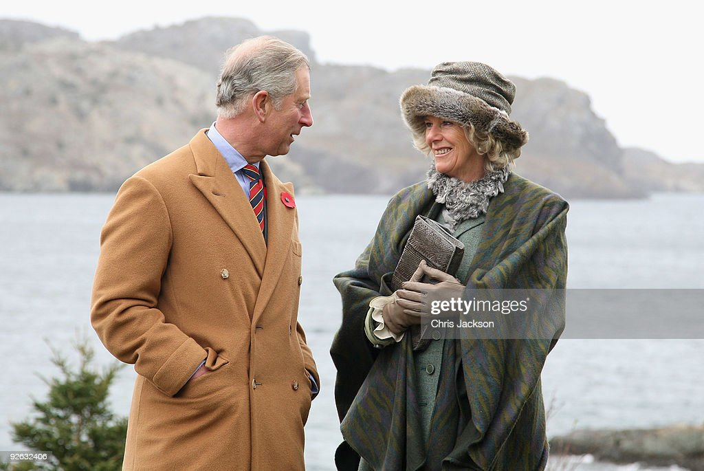 TRH Camilla, Duchess of Cornwall and Prince Charles, Prince of Wales pose for a photgraph as she visits the historic town of Brigus on November 3, 2009 in Saint John's, Canada. The Royal couple are visiting Canada from November 2 to November 12 and they will participate in commemorations and celebrations that honour Canada's persons, places and events. This is the Prince of Wales's 15th visit to the country, however, it will be the Duchess of Cornwall's fist official visit to a country where she has strong ancestral links.