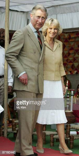 Camilla Duchess of Cornwall and Prince Charles Prince of Wales visit a Punjab village on the eighth day of their 12 day official tour visiting Egypt...