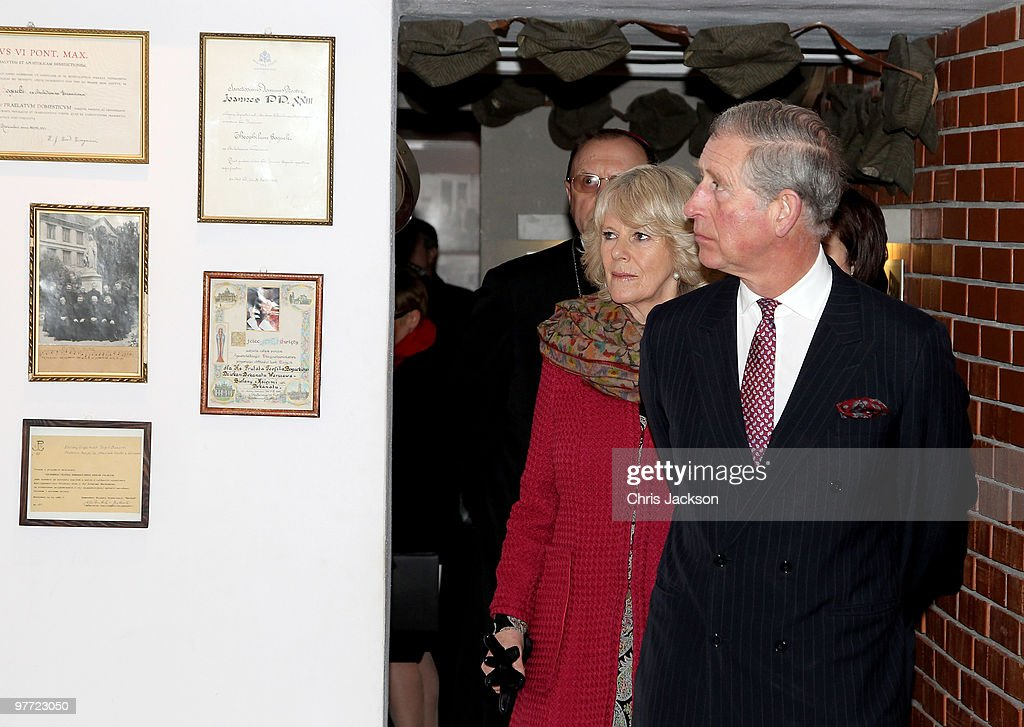<a gi-track='captionPersonalityLinkClicked' href=/galleries/search?phrase=Camilla+-+Duchess+of+Cornwall&family=editorial&specificpeople=158157 ng-click='$event.stopPropagation()'>Camilla</a> Duchess of Cornwall and <a gi-track='captionPersonalityLinkClicked' href=/galleries/search?phrase=Prince+Charles+-+Prince+of+Wales&family=editorial&specificpeople=160180 ng-click='$event.stopPropagation()'>Prince Charles</a>, Prince of Wales visit the Jerzy Popieluszko Museum as they visit St Stanislaw Kostka Parish Church to on March 15, 2010 in Warsaw, Poland. <a gi-track='captionPersonalityLinkClicked' href=/galleries/search?phrase=Prince+Charles+-+Prince+of+Wales&family=editorial&specificpeople=160180 ng-click='$event.stopPropagation()'>Prince Charles</a>, Prince of Wales and <a gi-track='captionPersonalityLinkClicked' href=/galleries/search?phrase=Camilla+-+Duchess+of+Cornwall&family=editorial&specificpeople=158157 ng-click='$event.stopPropagation()'>Camilla</a>, Duchess of Cornwall are on a three day trip to Poland as part of a tour of Eastern Europe that takes in Poland, Hungary and the Czech Republic.