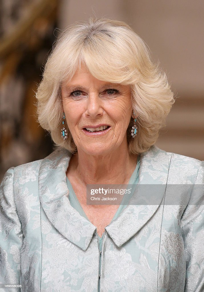 Camilla, Duchess of Cornwall arrives at a reception at the British Embassy on May 27, 20013 in Paris France. The Duchess of Cornwall is on her first overseas solo engagement for a two day visit to Paris in support of the homeless charity EMMAUS of which she is patron.