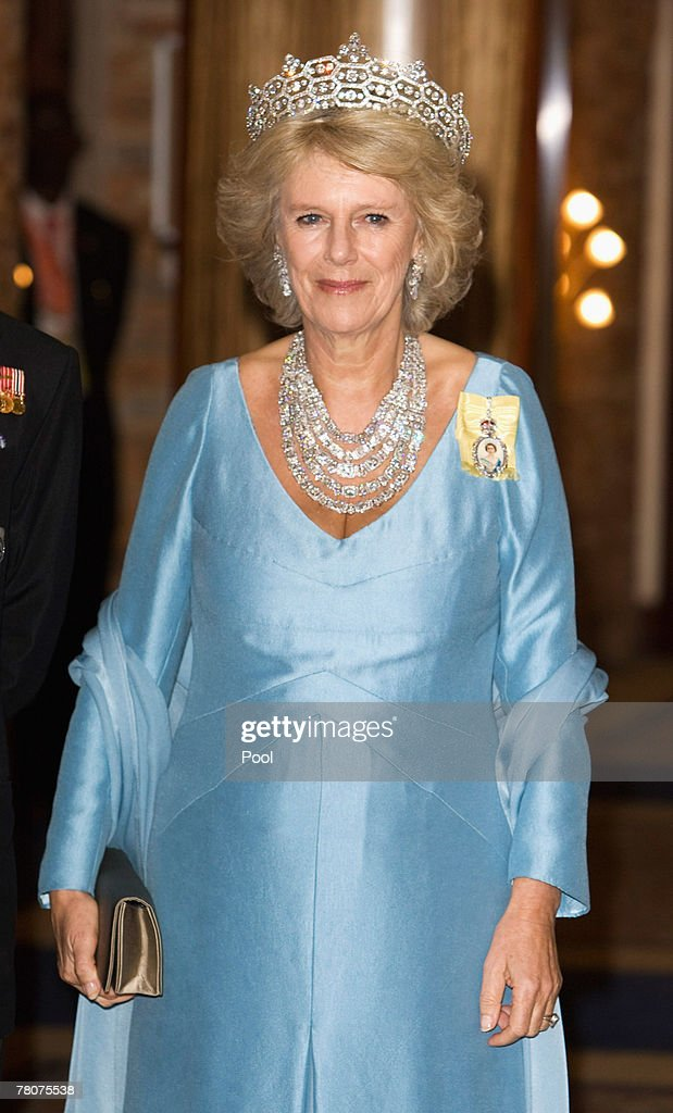 Camilla, Duchess of Cornwall arrives at the Serena Hotel for The Queen's Banquet for Commonwealth Heads of Government on November 23, 2007 in Kampala, Uganda. The Duchess is in Uganda with The Prince of Wales during the Commonwealth Heads of Govenment Meeting. CHOGM will be attended by over 5000 delegates, The Queen as well as UK Prime Minister Gordon Brown.