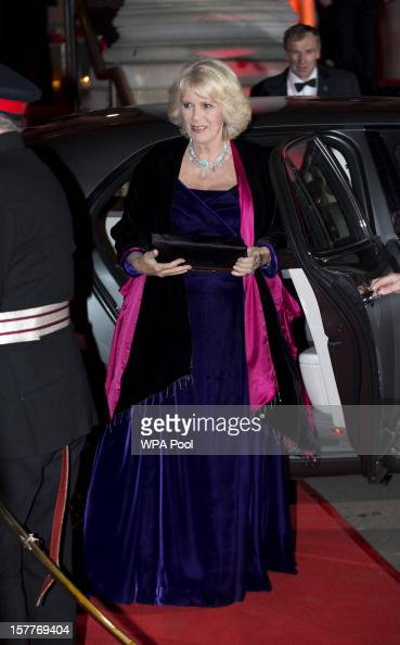 Camilla Duchess of Cornwall arrives at the Sun Military Awards at the Imperial War Museum on December 6 2012 in London England
