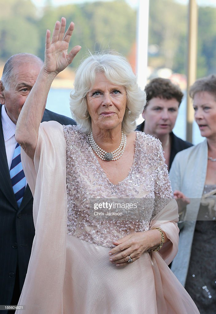 Camilla, Duchess of Cornwall attends a Jubilee Reception hosted by the Governor of NSW at Sydney Opera House on November 9, 2012 in Sydney, Australia. The Royal couple are in Australia on the second leg of a Diamond Jubilee Tour taking in Papua New Guinea, Australia and New Zealand.