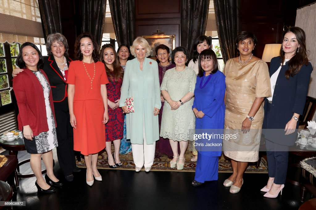 Camilla, Duchess of Cornwall attends a meeting on gender equality with Malaysian female business leaders at The Majestic Hotel Kuala Lumpur on November 3, 2017 in Kuala Lumpur, Malaysia. Prince Charles, Prince of Wales and Camilla, Duchess of Cornwall are on a tour of Singapore, Malaysia, Brunei and India.